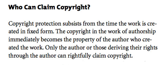 Who Can Claim Copyright?